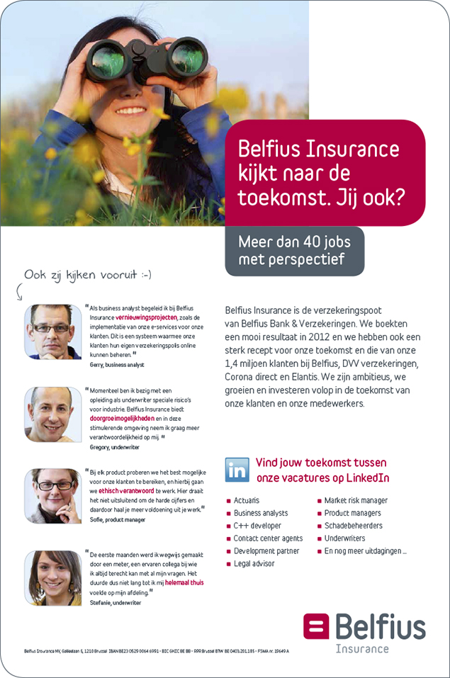 Belfius Insurance advertentie